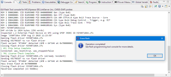 Regaining Debug Access to NXP i MX RT1064-EVK Executing WFI