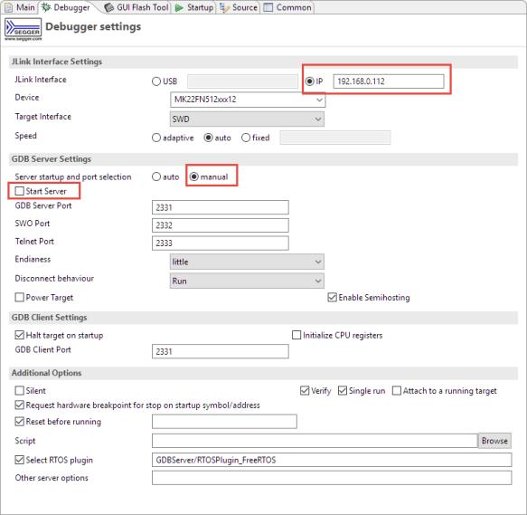 Remote Debugging in MCUXpresso IDE 10.3.1
