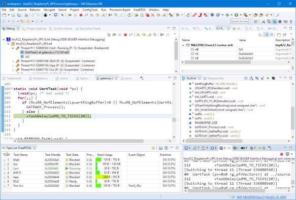 Debugging Firmware with MCUXpresso IDE