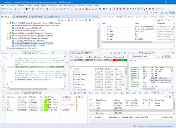 Debugging FreeRTOS on LPC55S69
