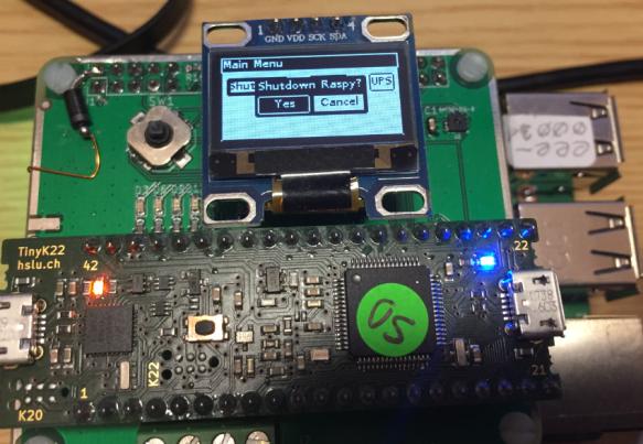 Dialog to powerdown Raspberry Pi