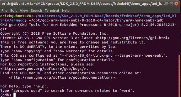 Launched GDB