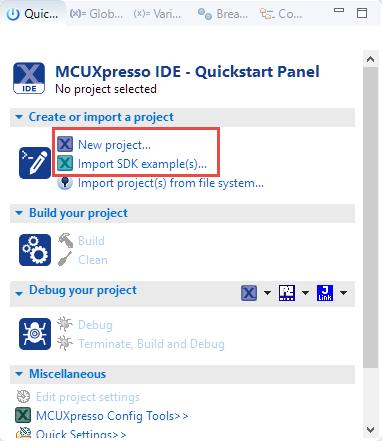 Quickstart Panel
