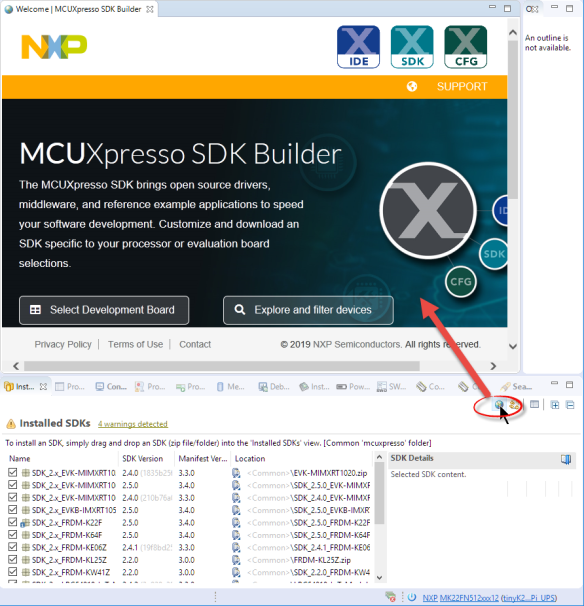 MCUXpresso SDK Web Site