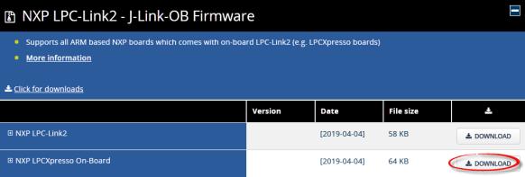 SEGGER NXP LPCXpresso On-Board Firmware