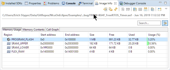 Image Info Memory Usage