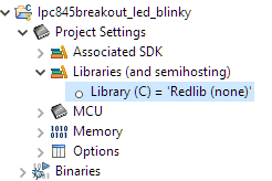 Library without standard I/O