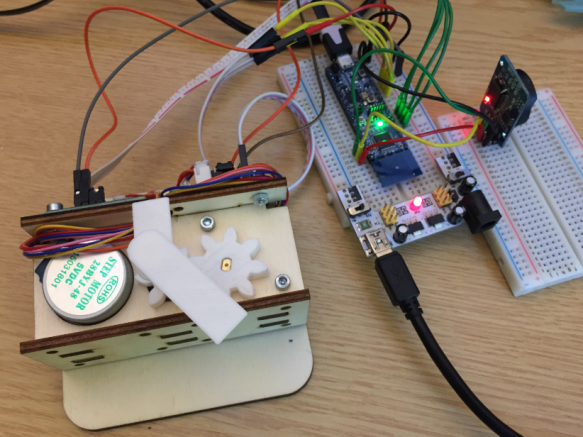 Stepper Clock Breadboard prototype