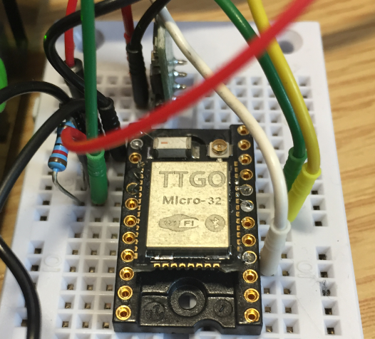 TTGO module on DIY adapter