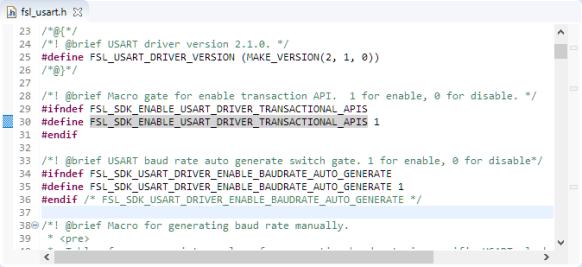 UART Transactional API setting