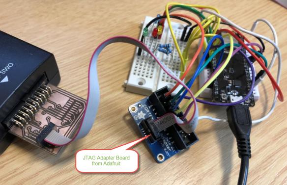 Debug Connection with Adafruit JTAG Adapter Board
