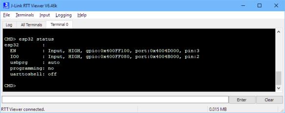 ESP32 status command