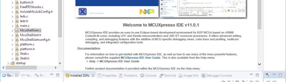 MCUXpresso IDE V11.0.1