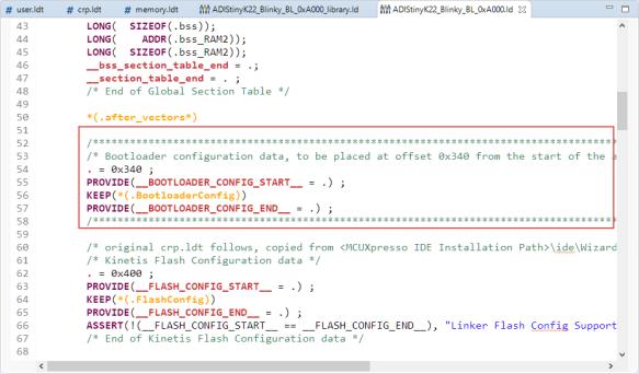 Bootloader Configuration Data