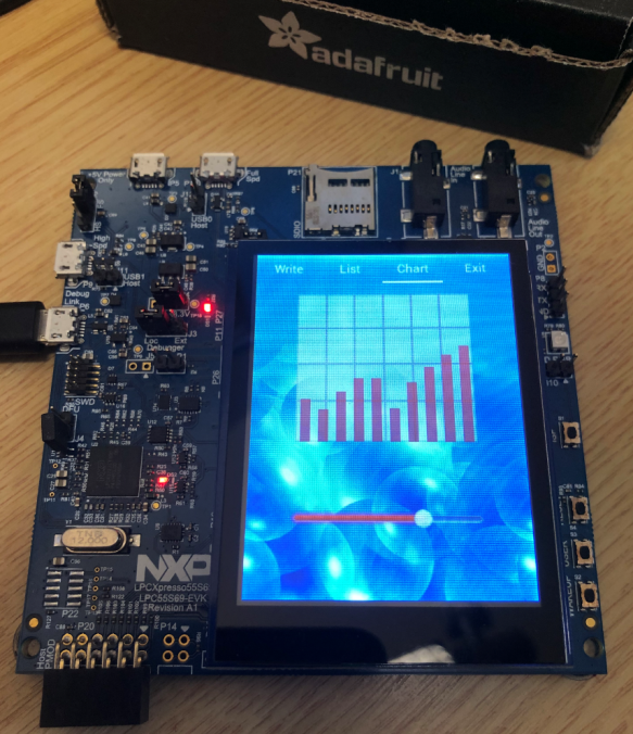 LPC55S69-EVK with Adafruit Touch LCD