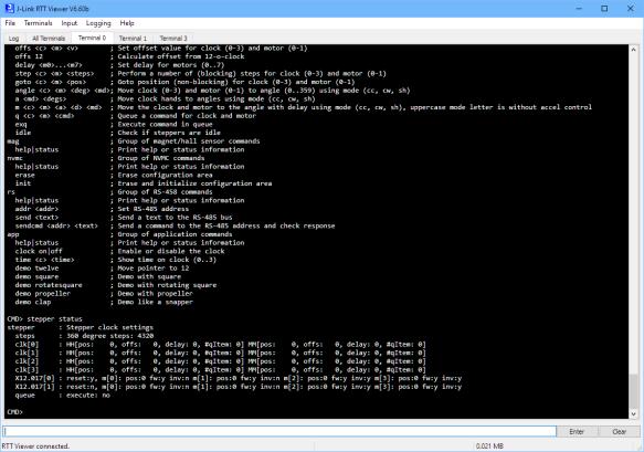 SEGGER RTT Interface and CLI