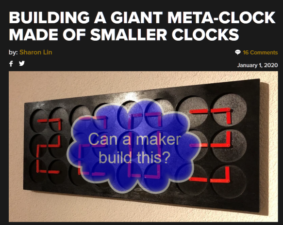 hackaday building a giant meta-clock made of smaller clocks