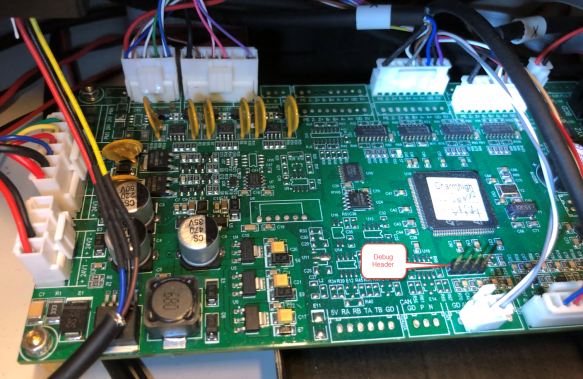 CHM-T36VA Controller Board mit Debug Header