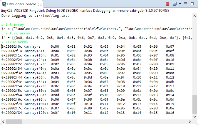 GDB Debugger Console in Eclipse