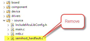 Remove existing hardfault handler