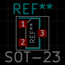 SOT-23 in KiCad