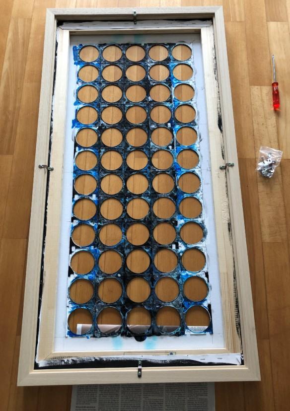 Added wooden frame