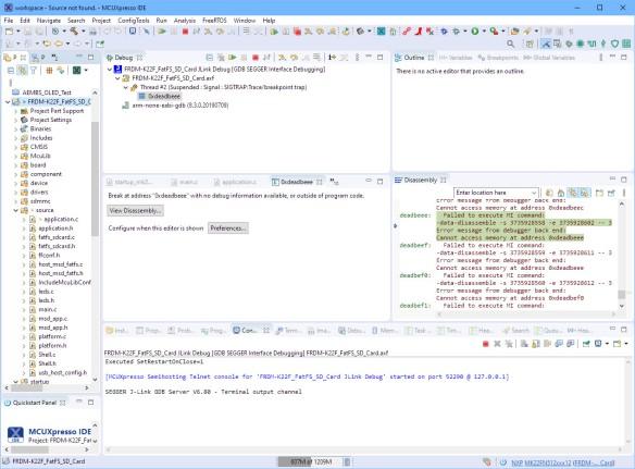 Failed to debug board in NMI mode