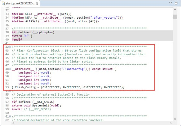 Flash Configuration Block