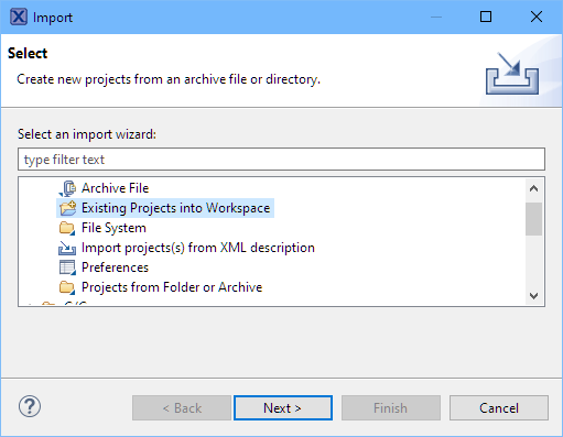 Import Existing Projects