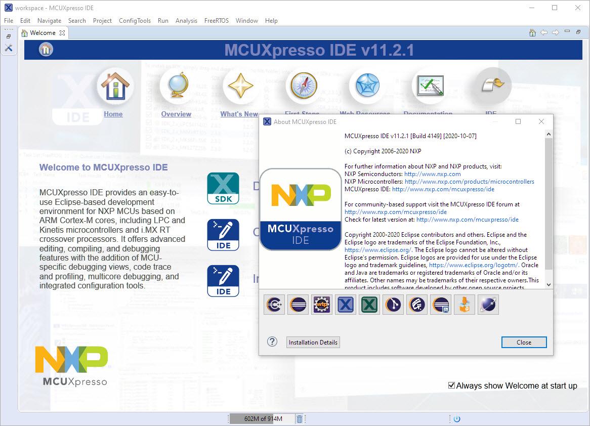 MCUXpresso IDE V11.2.1