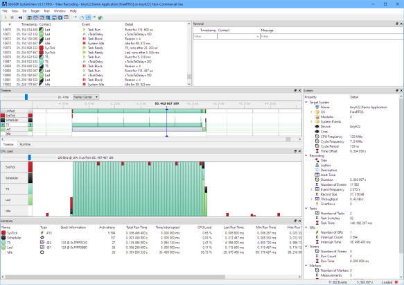 Segger SystemView 3.12 with FreeRTOS 10.4.2