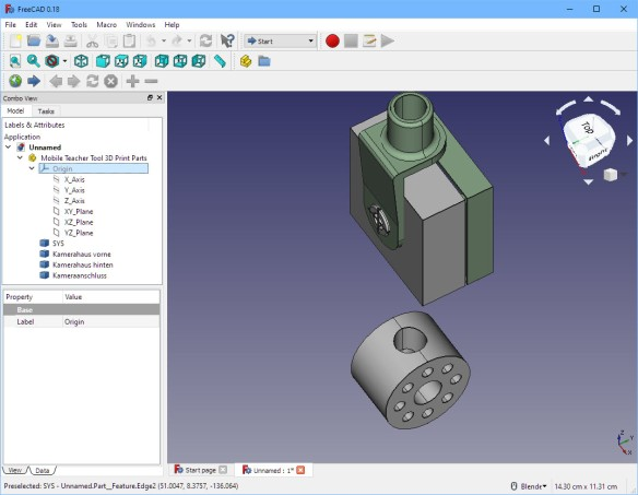 step file in FreeCAD