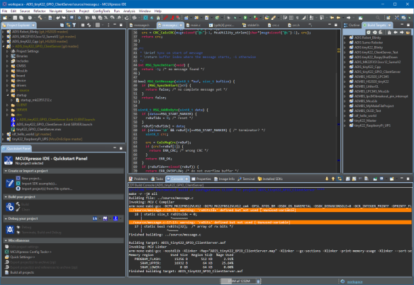 Tweaked MCUXpresso IDE Dark Theme