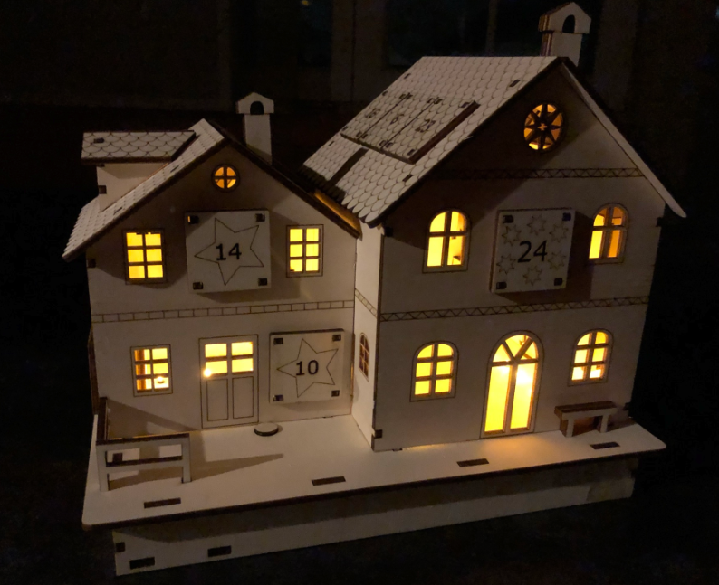 laser cut advent calendar illuminated