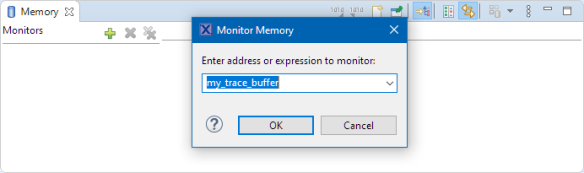 monitor memory with trace buffer