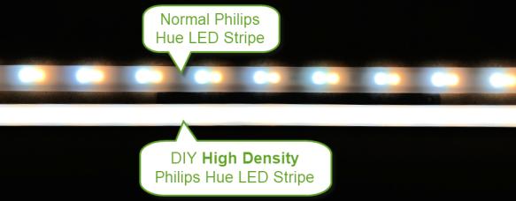 Normal vs High Density Philips Hue LED Stripe
