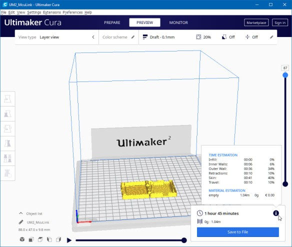 Ultimaker 2 Settings