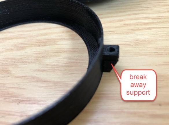 enclosure breakaway support