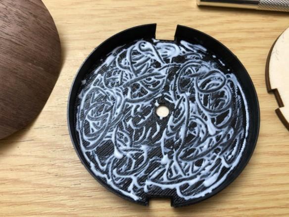 Glue inside inlay
