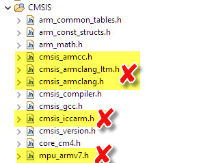remove not used CMSIS files
