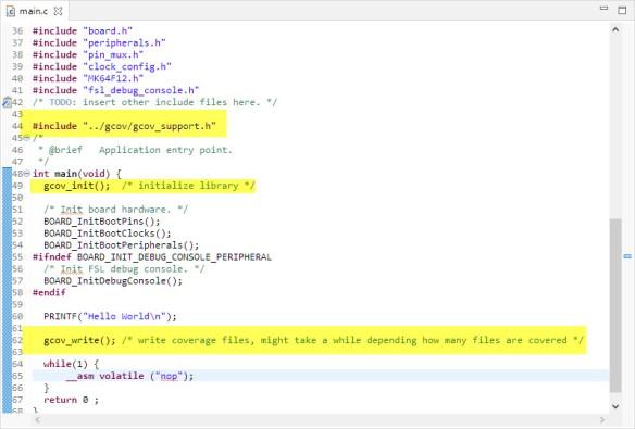 gcov init and writing data