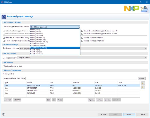 newlib nano with semihost