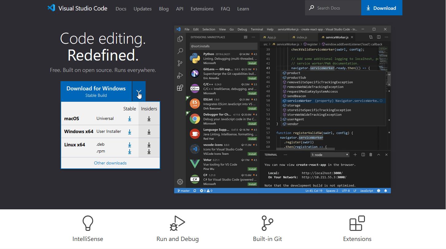 Visual Studio Code Download